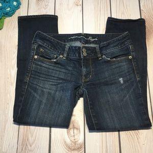 American Eagle women's artist cropped jeans